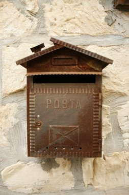 Rustic Mailbox on the wall