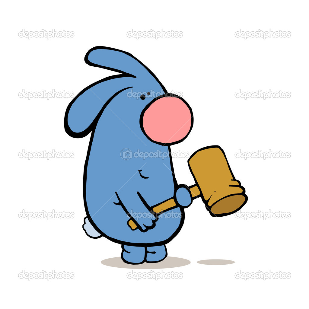 Заяц с молотком картинка