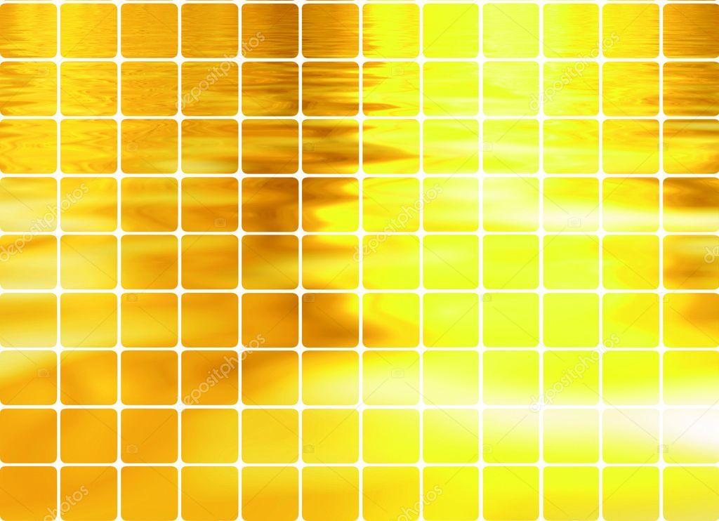 Golden like mosaic flickering square vec