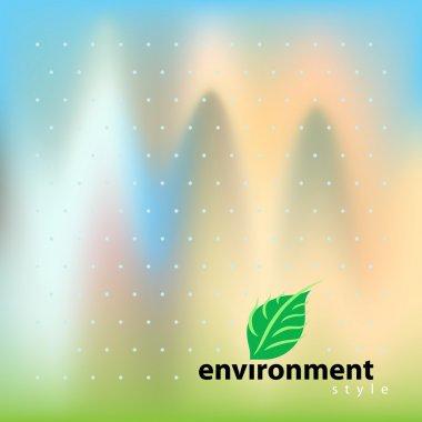 Vector template for design environment style clip art vector