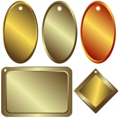 Gold, silver and bronze counters
