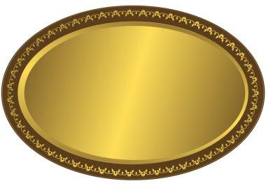 Oval metal volumetric plate