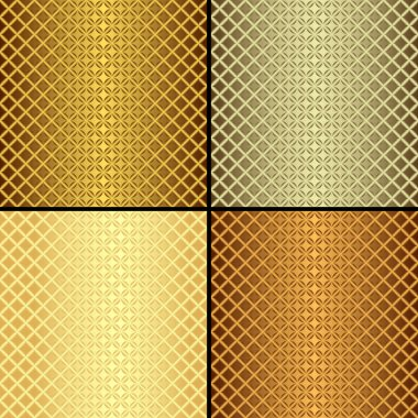 Set metallic seamless patterns (vector)