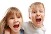 Photo Naughty shouting kids