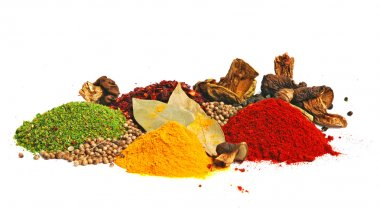 Piles of color spices