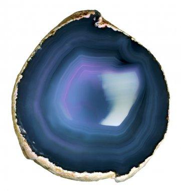 Translucent slice agate.