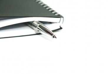 Silvery pen and note-book