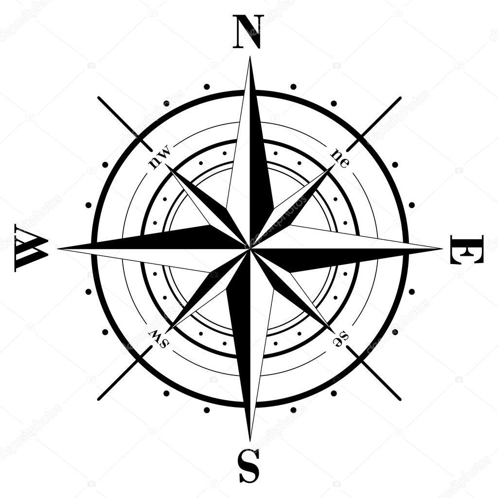 compass rose stock vector makhnach 1021267 rh depositphotos com compass rose vector image old compass rose vector