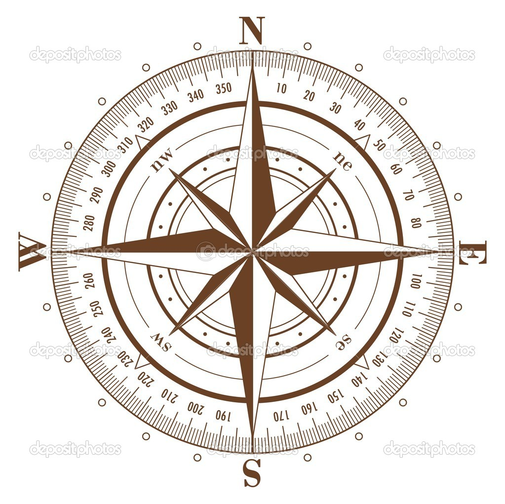 compass rose — stock vector © makhnach #1039164