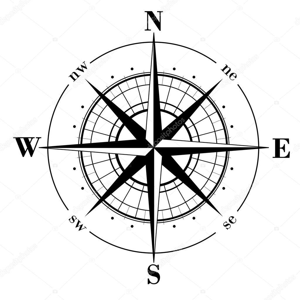 Compass Rose Stock Vector C Makhnach 1075605