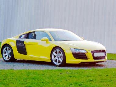 Luxury Yellow Sports Car