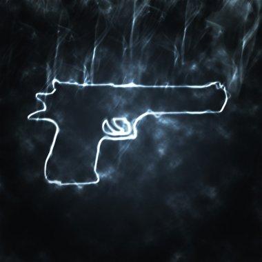 Gun in the smoke