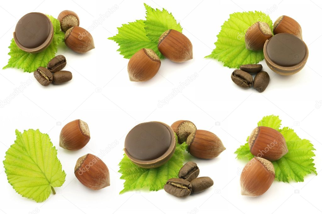 Chocolate candy with hazelnuts