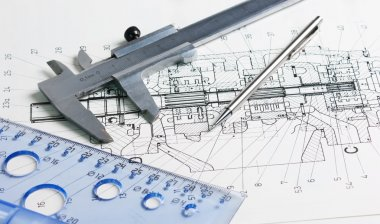 Calipers and mechanical drawing
