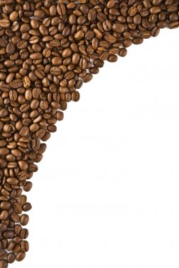 Frame from coffee beans isolated