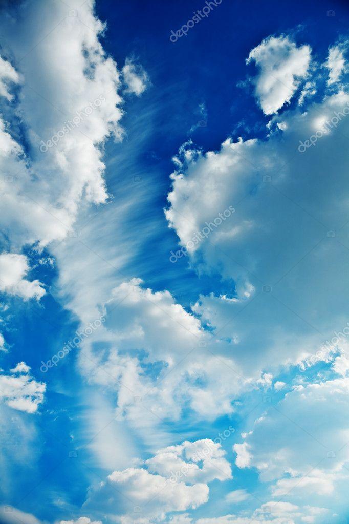 Cumulus clouds on a sky