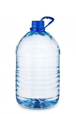 Big blue bottle with water isolated