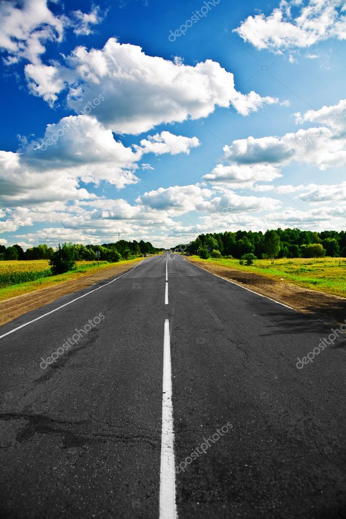 Colored road