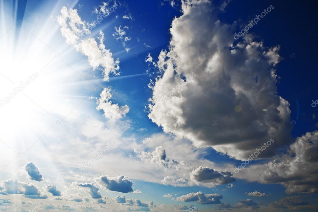Cloudy heaven and sun
