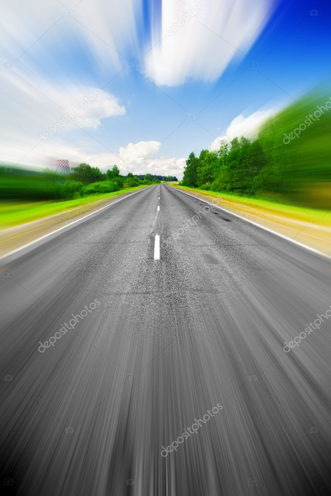 Speed effect on the road