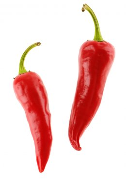 Two red chili pepers