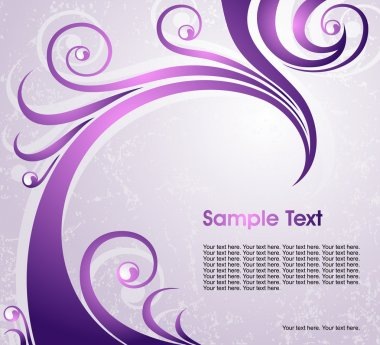 Violet floral background