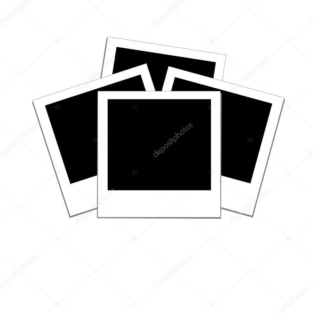 Marcos de fotos en blanco — Archivo Imágenes Vectoriales © trinochka ...