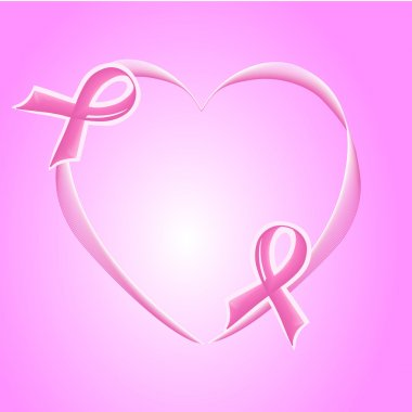 Pink Support Ribbon background