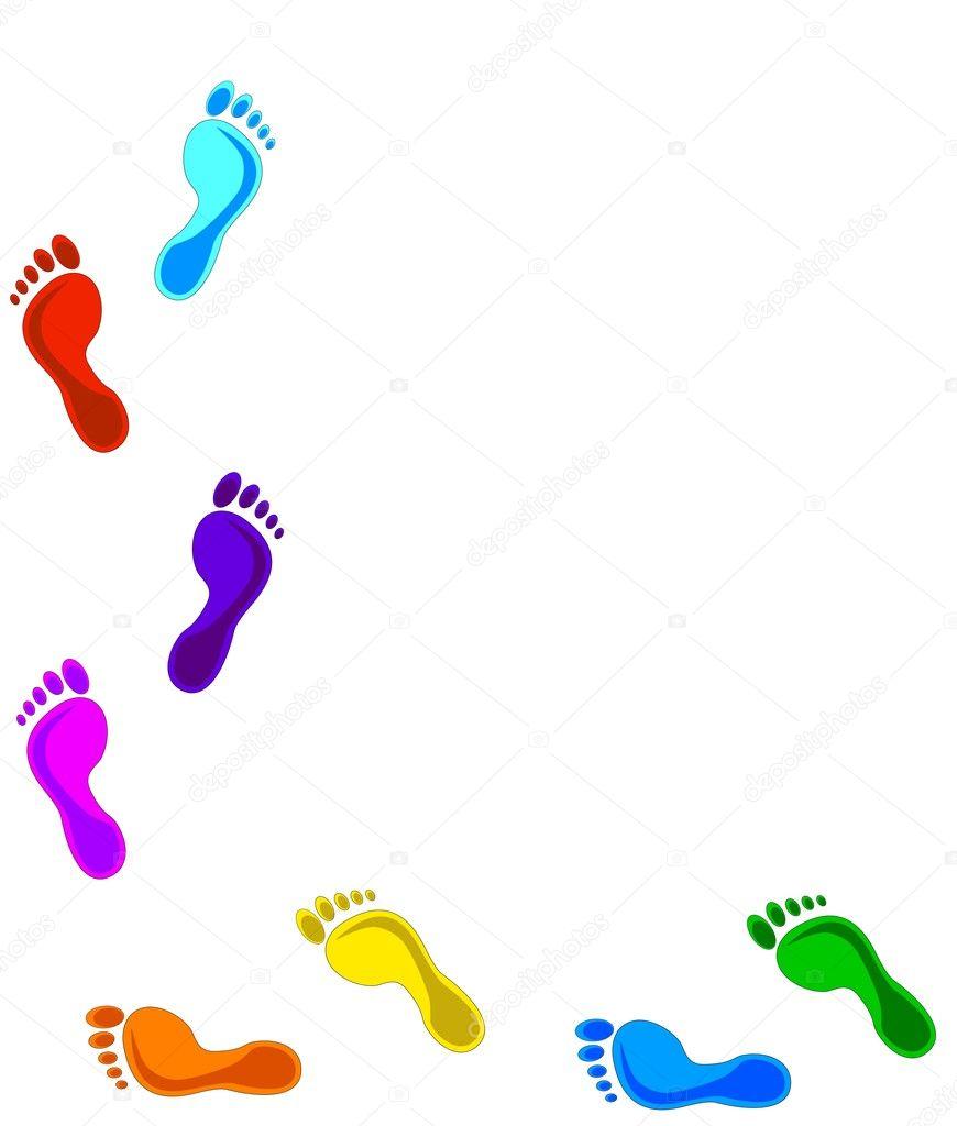 Colorful Foot Prints Logo: Footprints Stock Photo Trinochka #1520516