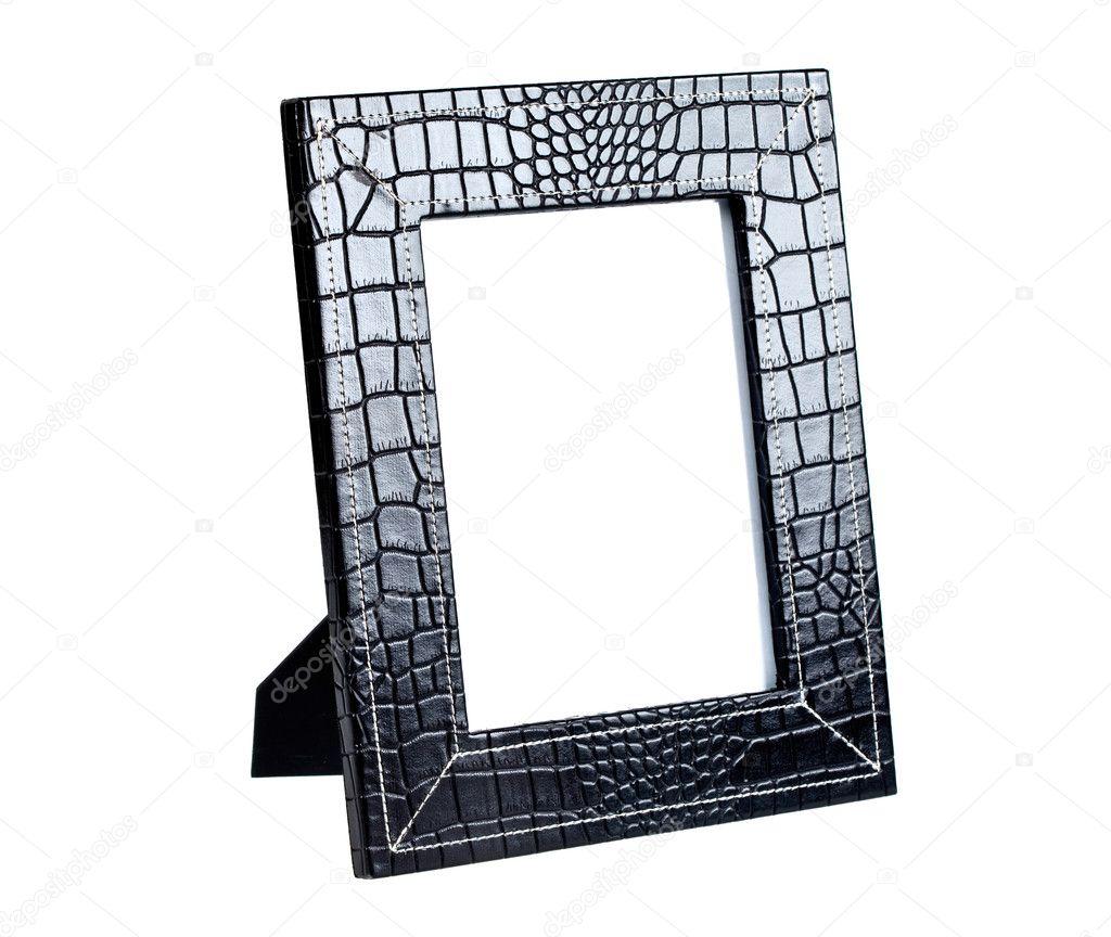 marco de fotos de un cuero negro — Fotos de Stock © pumba1 #1537247