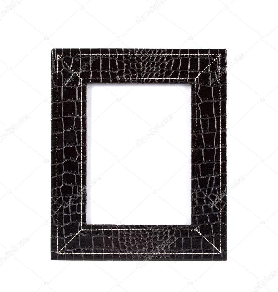 marco para una foto de un cuero negro — Foto de stock © pumba1 #1537347