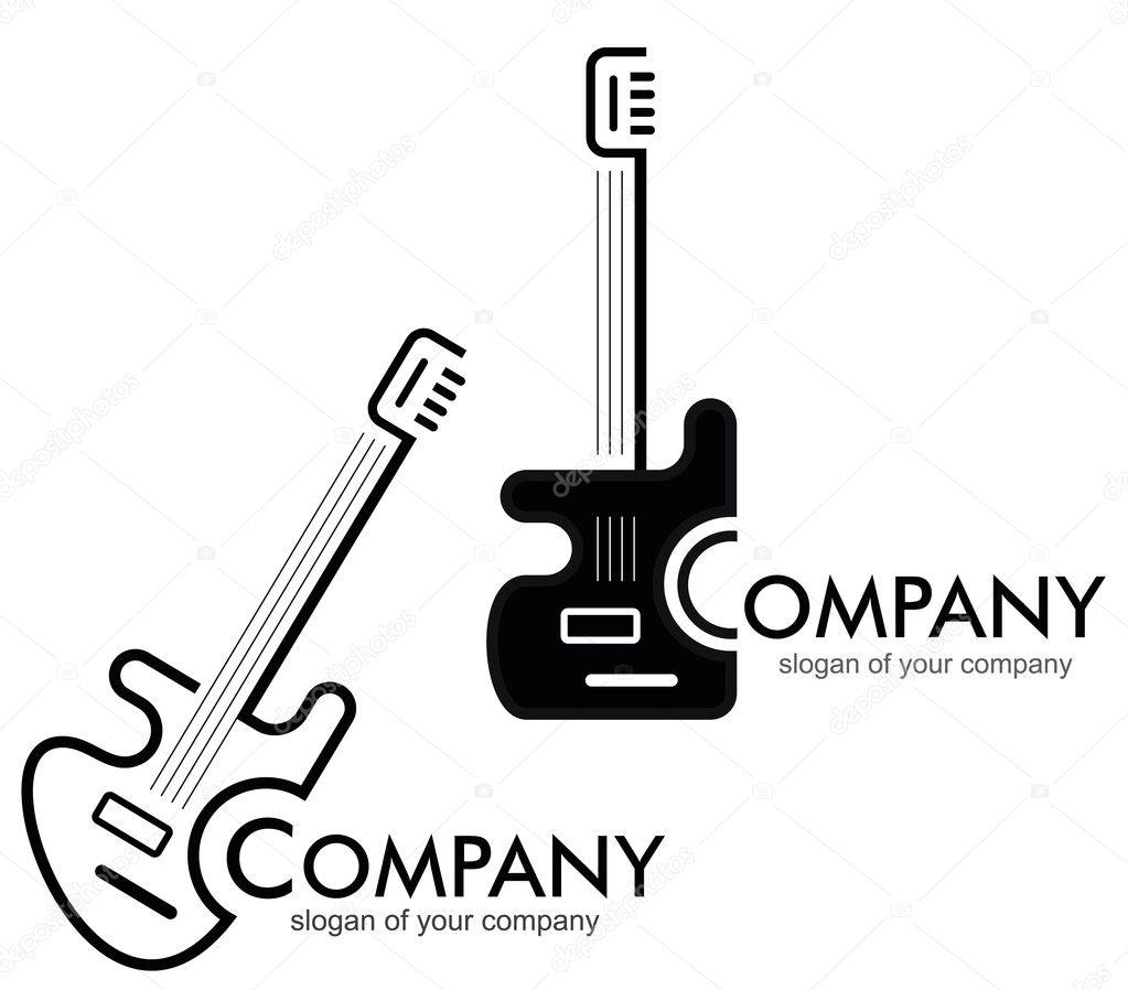 Guitar - logo, logotype.