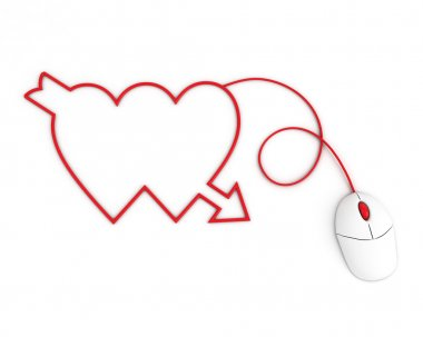 Two hearts depicted mouse
