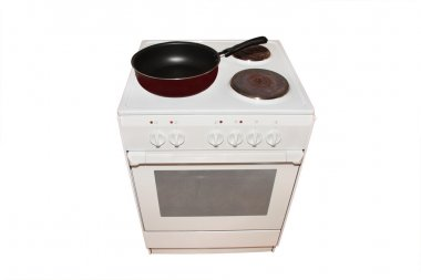 Electric stove with pan