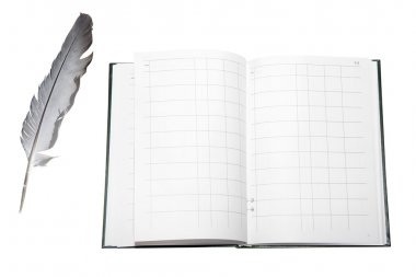 Feather and account book