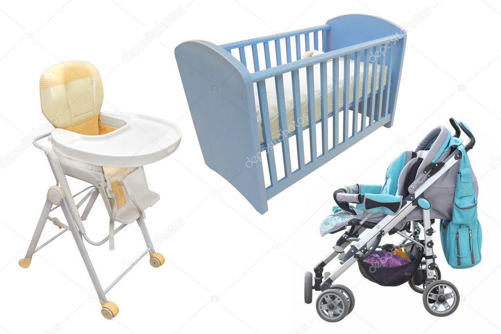 Stoel Voor Kind : Kind stoel bed en perambulator u stockfoto uatp