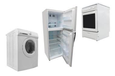 Electric stove, washer and refrigerator