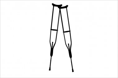 Vector illustration of black crutches