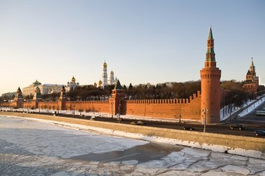 Moscow Kremlin is in winter