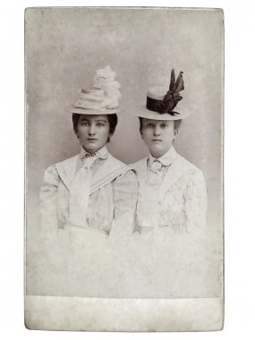 Vintage photo of womens