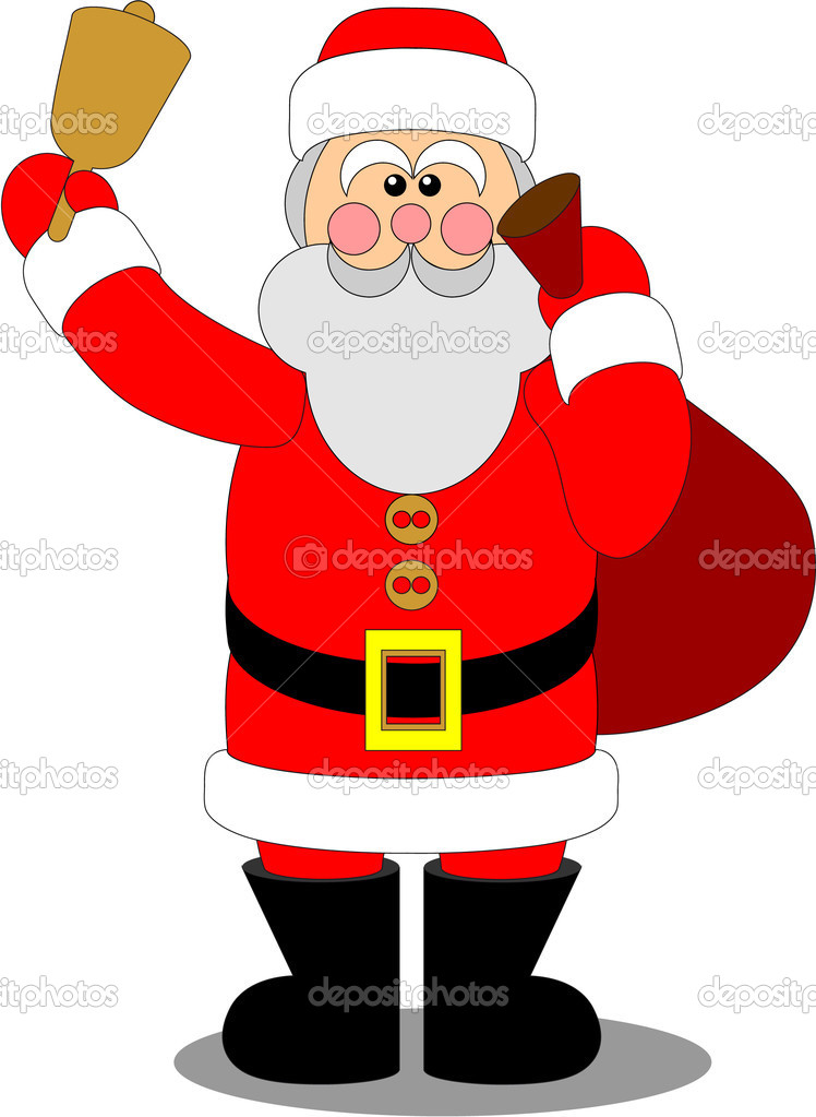 santa claus color 04 stock vector - Pictures Of Santa Claus To Color
