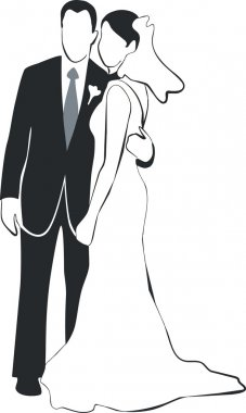 Wedding couple silhouette 02