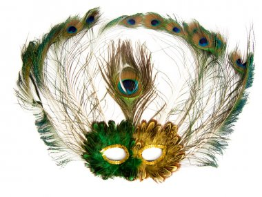 Carnival mask, isolated over white.