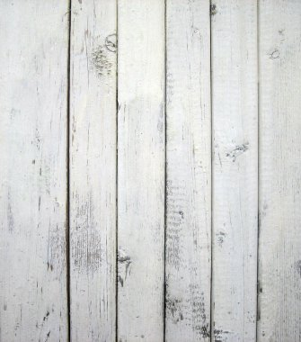 White painted old wooden wall