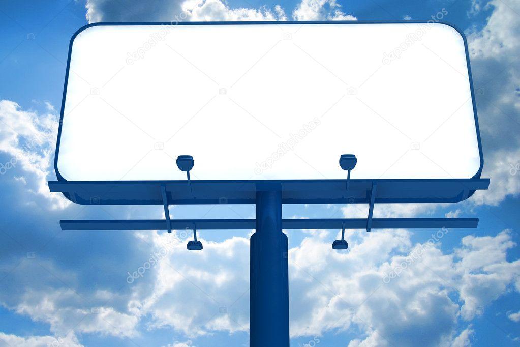 Billboard on a sky background