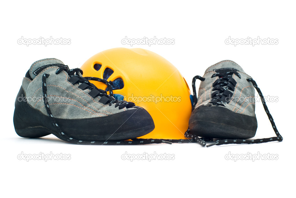 e4ecd6b2fd6 Κράνος αναρρίχησης και παπούτσια — Φωτογραφία Αρχείου © swinnerrr ...