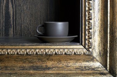 Cup and frame