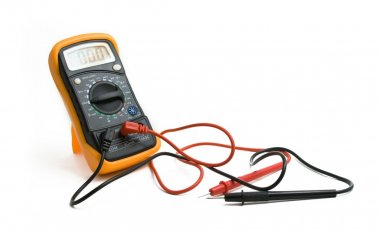 Tool multimeter on a white background