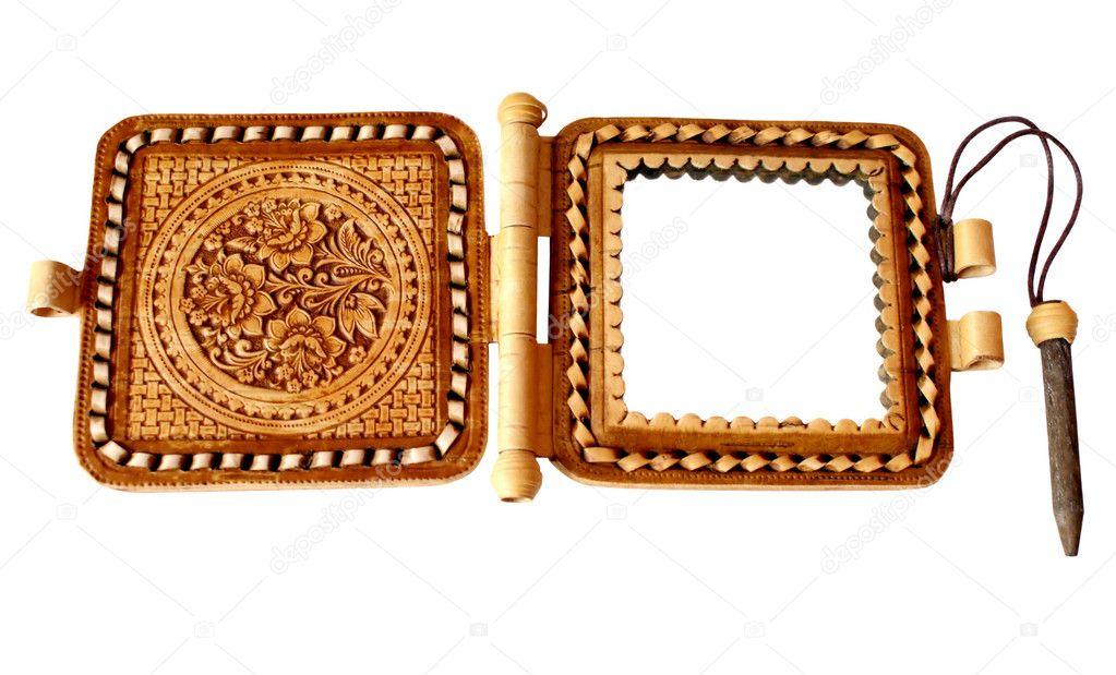 el espejo en el marco de abedul — Foto de stock © GUARDING #1026020
