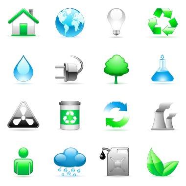 Vector environmental icons.